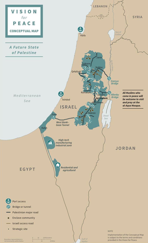 Mapa Izrael Palestina1 Brotnjo Info Citluk Međugorje